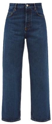 Balenciaga Bow-leg Cropped Jeans - Indigo