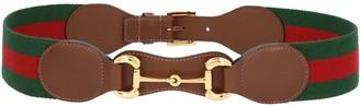 Gucci Web Horsebit Buckle Belt