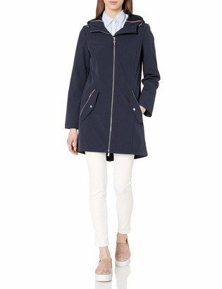 Tommy Hilfiger Women's Quintessential Hooded Soft Shell Rain Jacket
