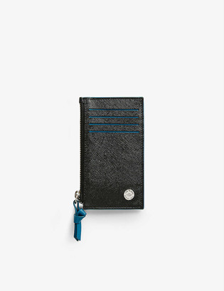 Ted Baker Romar Saffiano leather card holder