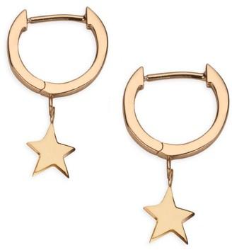 Jennifer Zeuner Jewelry Mika 14K Goldplated Sterling Silver Star Charm Huggie Earrings