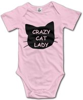 YEARla Unisex Crazy Cat Lady Funny Cat Lover Gift Baby Rompers Baby Onesie Short Slev