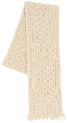 Alanui Cashmere & Wool Knit Fisherman Scarf