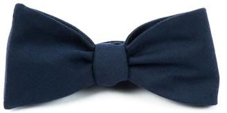 Tie Bar Solid Wool Navy Bow Tie