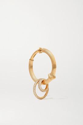 OLE LYNGGAARD COPENHAGEN Nature Large 18-karat Gold Diamond Hoop Earring - one size