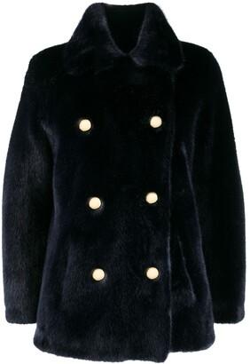 BRIGITTE faux-fur coat