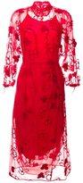 Simone Rocha floral tulle midi dress