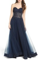 La Femme Women's Embellished Ballgown