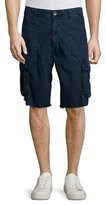 True Religion Weekender Frayed Cargo Shorts, Navy