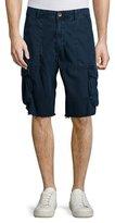 True Religion Weekender Frayed Cargo Shorts, Navy