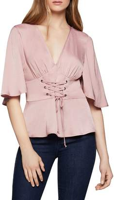 BCBGeneration Corse-Front Satin Top