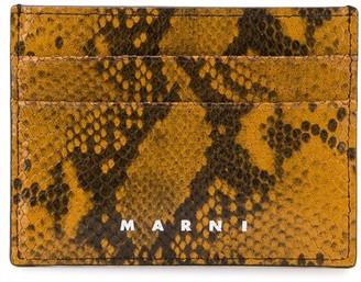 Marni Snakeskin-Effect Calf Leather Cardholder