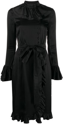 Moschino Ruffled Wrap Dress