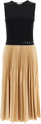Givenchy Two-tone Pleated Dress