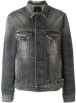 R 13 safety pin detail jacket