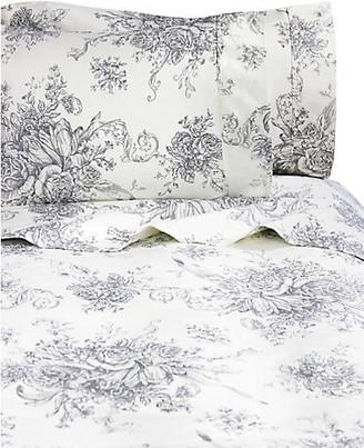 One Kings Lane Toile Sheet Set - Gray - Full