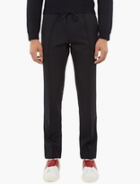 Valentino Navy Relaxed Cotton Trousers