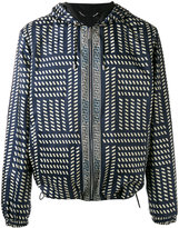 Versace Tribal print hooded jacket