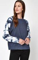 La Hearts Tie Dye Sleeve Pullover Sweatshirt