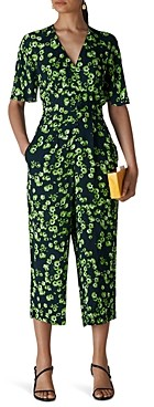 Whistles Digital Daisy Cropped Jumpsuit