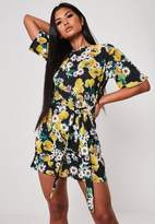 Missguided Floral Print Shift Dress