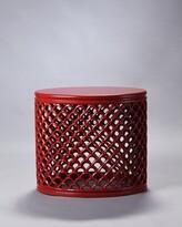Bungalow Rose Bedard Jali End Table Color: Red