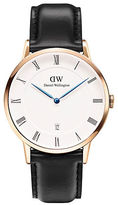 Daniel Wellington Dapper Sheffield Rose Gold and Leather Strap Watch, 38mm