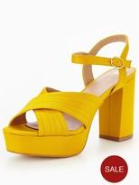 Very Rose Satin Platform Sandal - Mustard
