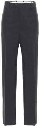 Bottega Veneta High-rise wool straight pants