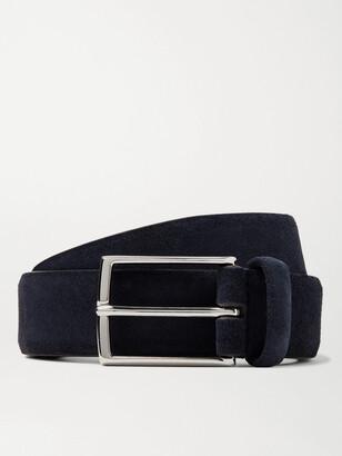 Andersons 3.5cm Navy Suede Belt