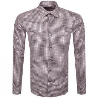 Boss Business BOSS Jango Slim Fit Long Sleeve Shirt Red