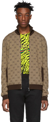 Gucci Brown GG Zip Sweater