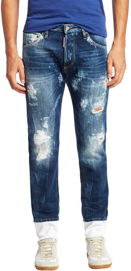DSQUARED2 Dan Distressed Skinny Jean