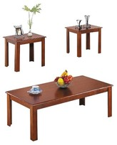ACME Furniture 3 Piece Meridia Pack Coffee End Table Set Cherry - ACME