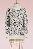 Proenza Schouler Leopard Print Jacquard Wool Sweater