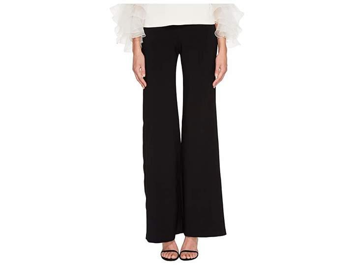 Marchesa Classic Wide Leg Crepe Pants Women's Casual Pants