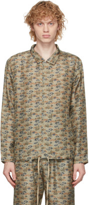 By Walid Khaki Silk Joel Shirt