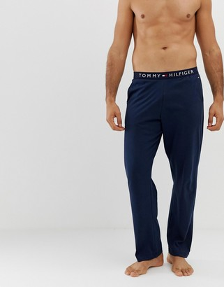 Tommy Hilfiger lounge joggers with comfort logo waistband in navy