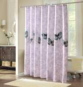 Yiyida Mildew-Free Water-Repellent Fabric Shower Curtain, 80 x 180 cm - Butterfly Pattern