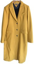 Tommy Hilfiger Yellow Wool Coat for Women