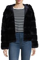 Dayna Reversible Hooded Fur-Trimmed Jacket