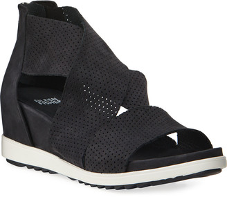 Eileen Fisher Voice Perforated Demi-Wedge Sport Sandals