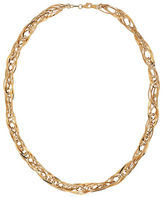 Lord & Taylor 14K Yellow Gold Quadruple Interlock Necklace