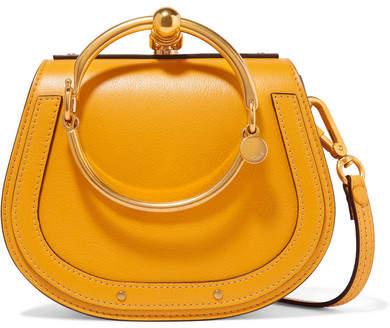 Chloé Nile Bracelet Small Textured-leather Shoulder Bag - Marigold