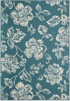 """Momeni Breezeway Indoor/Outdoor Floral 6'7"""" x 9'6"""" Area Rug"""