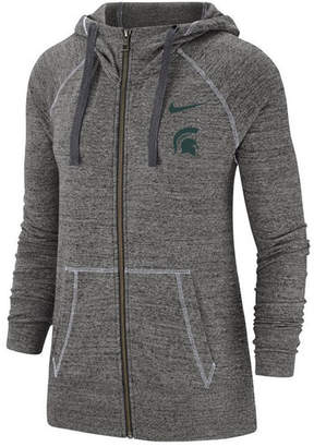 Nike Women Michigan State Spartans Gym Vintage Full-Zip Jacket
