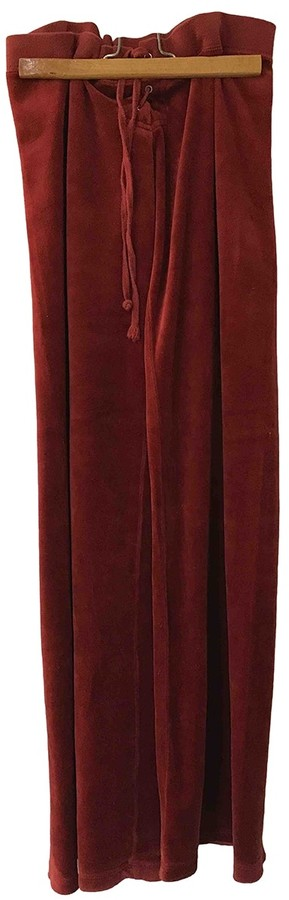 Juicy Couture Red Velvet Trousers for Women