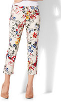 New York & Co. 7th Avenue Pant - Crop Straight Leg - Signature - Floral - Tall