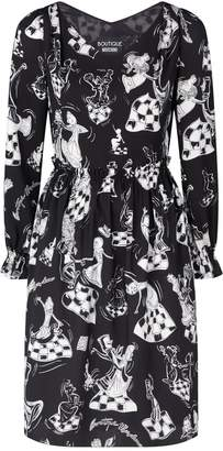 Moschino Patterned V-Neck Dress