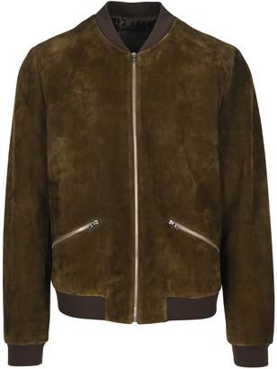 Prada Contrasting Trim Bomber Jacket